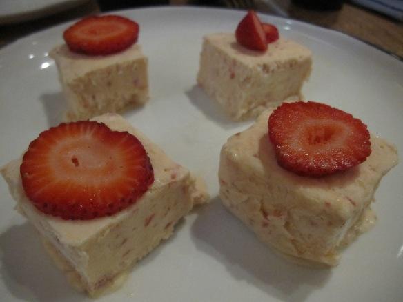Strawberry semifreddo