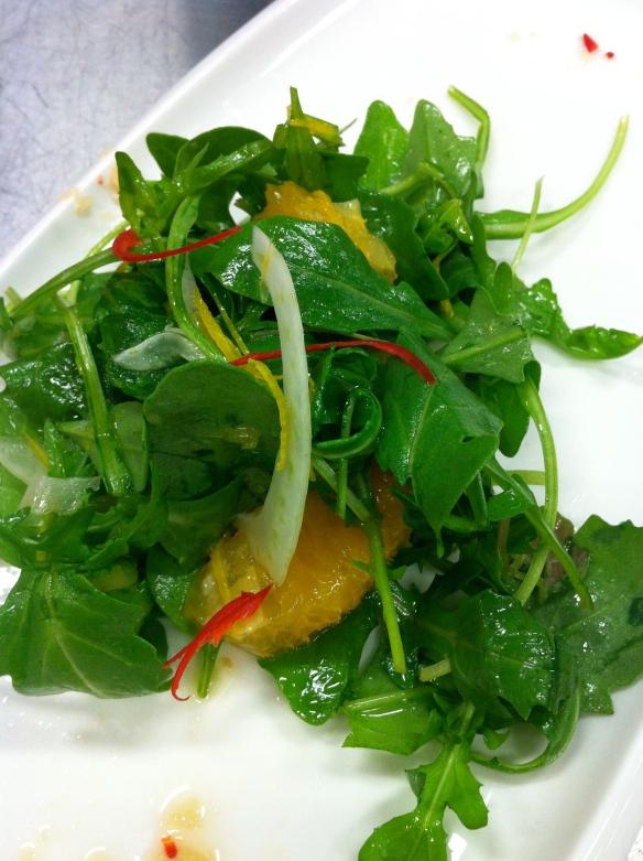 Rocket, fennel and orange salad