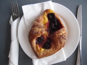Sour cherry and custard pastry