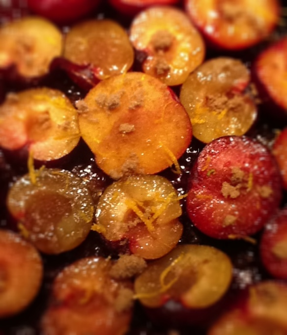 plums cooking
