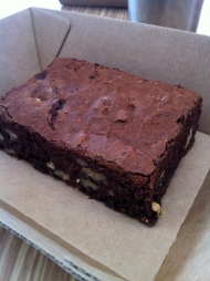 Rich chocolate brownie