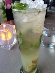 Ginger mint cocktail