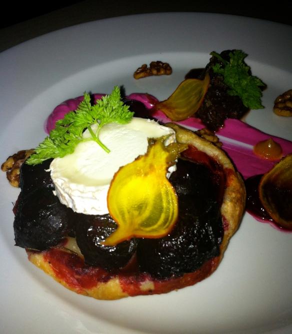 Beetroot tarte