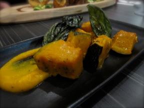 Pumpkin with crispy basil