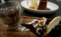 Chocolate and rosemary brulee