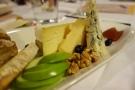 Generous cheese platter