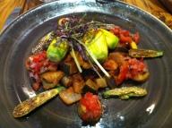 Confit zucchini flowers